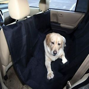 Heavy Duty Waterproof Pet Dog Car Hammock Back Seat Cover Black