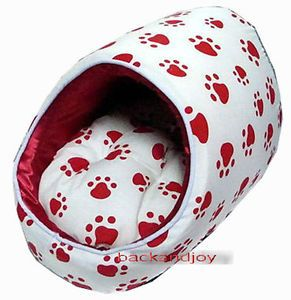 Red Paws Dog Beds House Mat Crate Pets Dog Cat Small