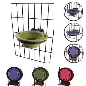 Popware Kennel Cup Dog Kennel Collapsible Bowl Attachment for Wire Crate Small