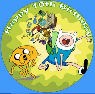 Adventure Time Edible Image Party Cake Decoration