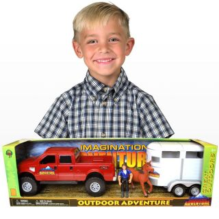 Outdoor Adventure Ford F 250 Truck and Horse Trailer Set 2608