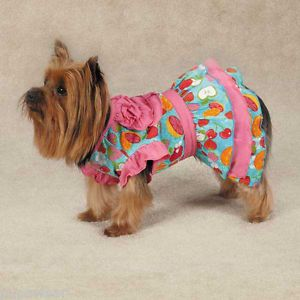 X Small Dog Dress Chihuahua Yorkie Toy Poodle Brussels Dog Dress Fruity Clothes
