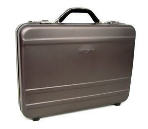 Samsonite Gun Metal Aluminum Attache Case Laptop Briefcase Bag Computer