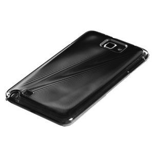 Samsung Galaxy Note i717 Brushed Aluminum Acrylic Snap Fit Case Black