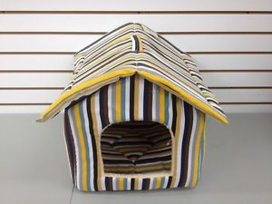 "New Pet Dog Cat Indoor House 15"" Fabric Cloth House Bed Furniture House Home"