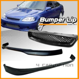 96 97 98 Honda Civic 3DR T R Front Rear Bumper Lip Grill