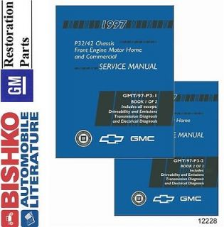 1997 Chevy GMC P Chassis P32 P42 Truck Shop Service Repair Manual CD Engine