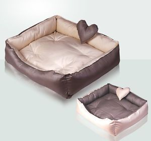 New Waterproof Handmade Dog Cat Bed House Sofa Beige M L D10