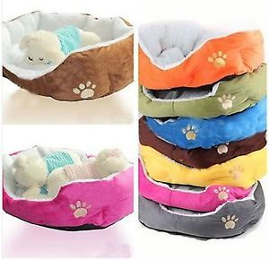 Soft Fleece Pet Dog Puppy Cat Warm Bed House Plush Cozy Nest Mat Pad Mat 6 Color