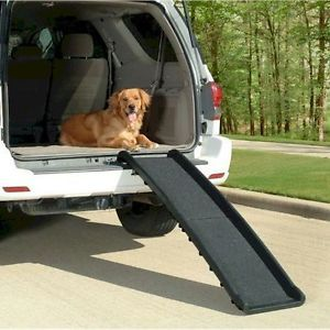 Large Folding Dog Ramp Bed Stairs SUV Car Step