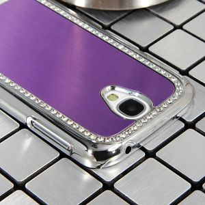 Luxury Brushed Aluminum Chrome Hard Case for Samsung Galaxy S4 IV I9500 Film