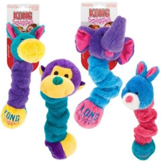 Kong Squiggles Squeaky Plush Dog Puppy Squeak Toy