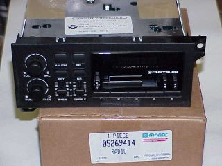 1975 1994 Mopar Am FM Cassette Chrysler Radio Plymouth Dodge
