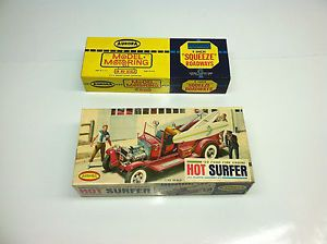1930 Ford Fire Engine Hot Surfer Aurora Kit 552 79 Box and Aurora 1539 Track Box
