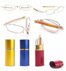 New Mens Ladies Unisex Quality Folding Tube Reader Reading Glasses All Strengths