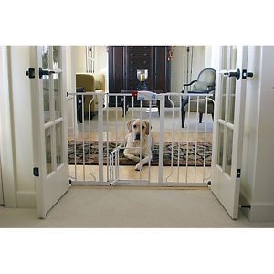 Extra Wide Baby Pet Gate with Door New