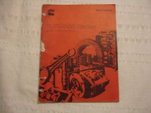 Cummins Diesel Engine V 555 VT 555 Service Parts Catalog Manual List Illustrated