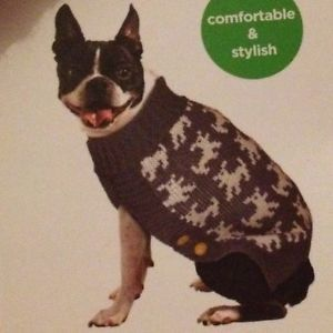 Martha Stewart Jacquard Dog Sweater Coat