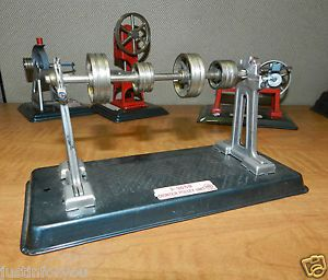 543 Vintage 1950s Tin Toy Steam Engine Counter Pulley Unit Linemar Marx Toys