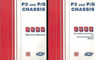 1994 Chevy P Chassis Truck Shop Service Repair Manual Engine Drivetrain
