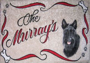 Scottie Scottish Terrier Dog Door Mat Personalized Dog