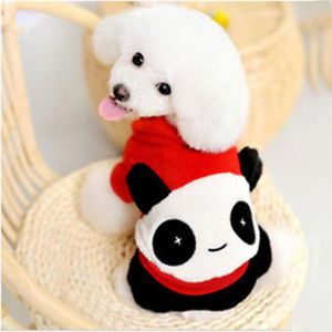 Pet Dog Clothes Winter Panda Coat Sweater for Small Dogs Size S