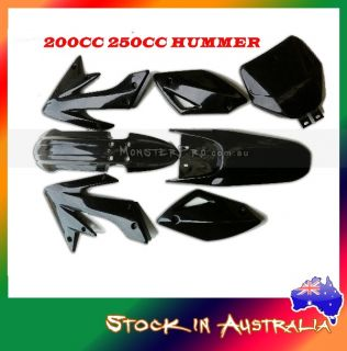 Plastic Fender Kit for 200cc 250cc Thumpstar Atomik Hummer Trail Dirt Bikes Blk