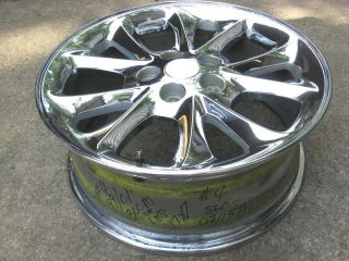 1999 2000 2001 Chrysler 300M or LHS Chrome Aluminum Alloy 17x7 Factory Wheel Rim
