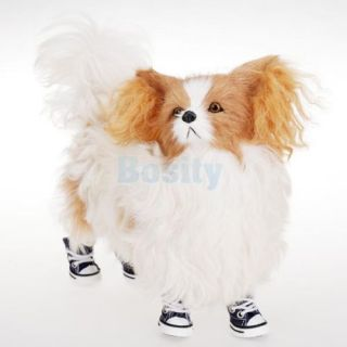 Pet Dog Puppy Denim Rubber Shoes Sports Boots Shoelace Bootie Cool Walk Sneaker