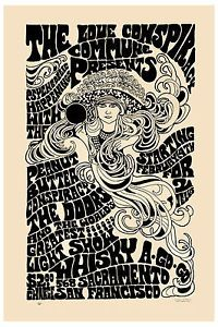 Classic Rock Jim Morrison The Doors at San Francisco Concert Poster 1967