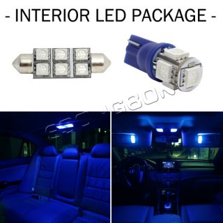 7x Blue LED Lights Bulbs Interior Package Deal Map Dome License Plate Ford F 150