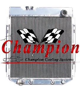 1965 1966 Ford Mustang w V8 Engine Swap 4 Row Aluminum Champion Radiator