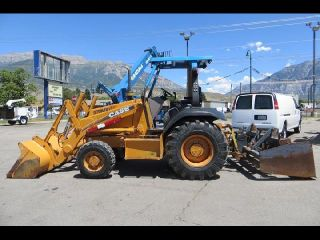 Skip Loader Backhoe Case 570 MXT 4x4 4 Valve Rear Scraper ROPS