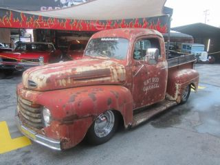 1950 Ford F1 Rat Rod Old School Pick Up S10 Frame Runs Great Make OFFER Look