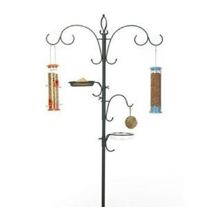 Pinebush Bird Feeder Pole Chapelwood Wild Bird Dining Station and FEEDERS30620