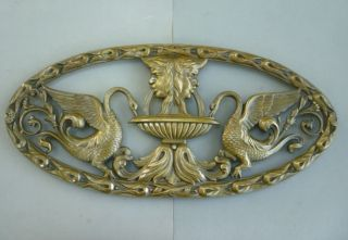 Antique Bronze Art'Deco Plaque Big Size 24 inches Long Approx