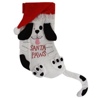Cute Pet Christmas Stocking Santa Paws for Dogs