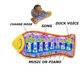New Touch Music Sound Voice Singing Piano Baby BB Toys Gym Play Playing Mat Fish