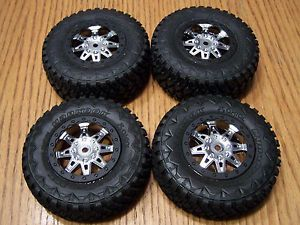 Axial Exo Terra Buggy Hankook MT 2 2 3 0 Tires on 12mm Chrome Black Wheels