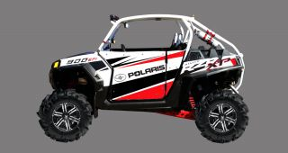 Racing Decals Graphics Kit 2011 Polaris Ranger RZR900 900XP 900 Pro Armor Doors