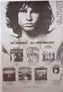 "Doors ""The Originals"" U K Commercial Poster Jim Morrison Psychedelic Rock"