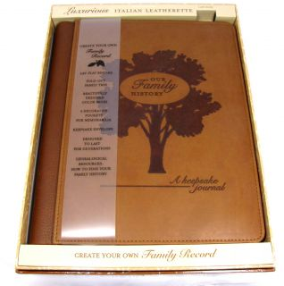 New Soft Leather Family Tree Journal History Album Blank for Your Own Records