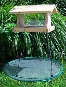 "24"" Seedhoop Seed Catcher Platform Bird Feeder Mounts on Hanging or Pole Feeders"