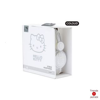 Hello Kitty Sanrio Coloud ZD Headphone Stereo Ear White Label New Japan