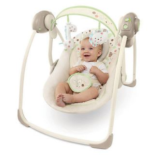 New Bright Starts Comfort Harmony Sandstone Portable Baby Swing Chair