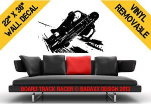 Board Track Racer Motorcycle Wall Decal 22 x 36 Wall Art Removable Sticker