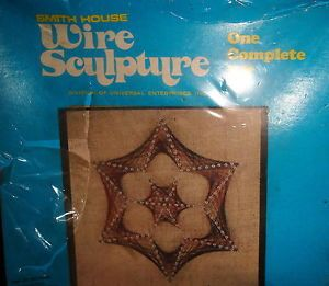 "RARE Smith House Wire Sculpture Kit ""Star"" 12"" Vintage Wall Hanging Art New"