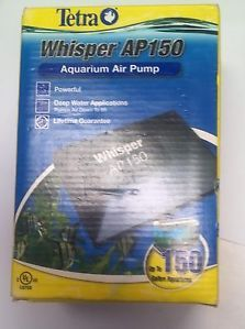New Tetra Whisper AP 150 Air Pump Aquarium Oxygen Pond Aeration Fish Tank AP150