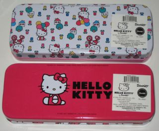 Hello Kitty Sanrio Tin Pencil Pen Box Art Supplies Jewelry Container Box Case