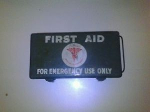 Army First Aid Kit Medical Department Metal Box WWII
